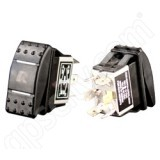 RAM Mount DPDT RAM MOM Rocker Switch with Light RAM-SWITCH-DPDTL-MOM