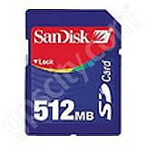 SanDisk 512MB Secure Digital Data Card