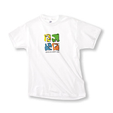 Geocaching Crayon T-Shirt White Short 2XL