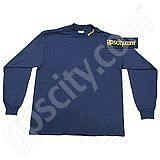 GPS City Navy Long Sleeve Mock Turtleneck MED