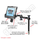RAM Mount Motion LS800 Tablet Tele-Pole RAM-VP-TTM8-MOT1