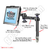 RAM Mount Motion LE1600 Tablet Tele-Pole RAM-VP-TTM8-MOT2