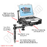 Click for larger view of the RAM-234-PAN1 Tough Dock Tray with Upper VB Mount System