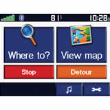 Click for larger view of the Garmin Zumo 550 Screen Shot 3