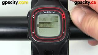 garmin forerunner 10: virtual pacer