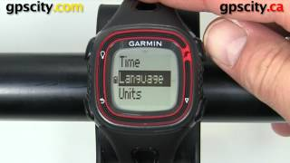garmin forerunner 10: settings