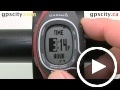 garmin forerunner 60: time menu