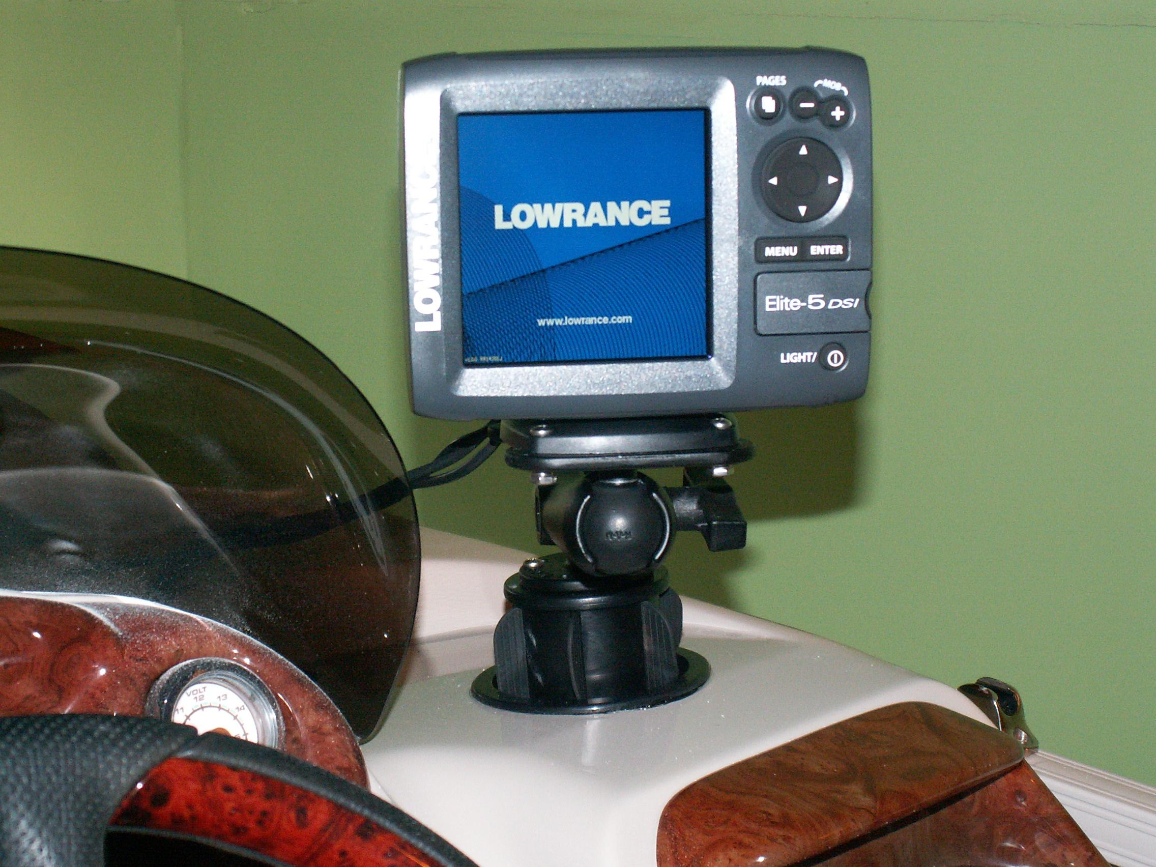 Mounting Lowrance Elite 5 On My Pontoon Boat Gallery Article
