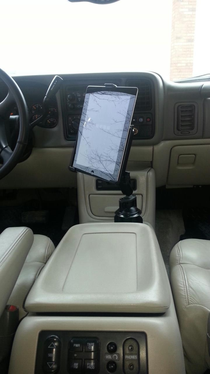 My Chevy Tahoe With Its New Ipad Ram Mount Gallery Article