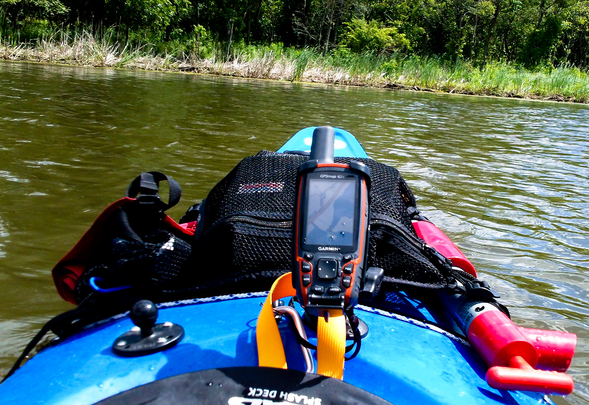 Garmin Gpsmap 62s Ram Mounted On Kayak Gallery Article