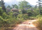 A Laos village road