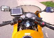 My GPS mounted on my bike