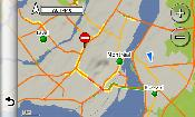Traffic map in Montreal