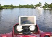 Nuvi 660 in operation on the Biloxi River
