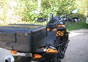 BMW F800GS Ham radio and GPSMAP478