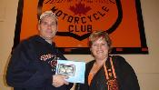 Winner Michael Baril (L) with Club President Donna Serne