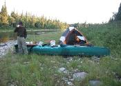 An easy portage on the dry riverbed.