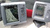 Along side my humminbird fishfinder