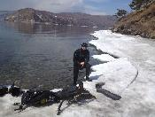 after ice diving on Baikal lake (the deepest lake of the world)