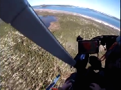 Flying without doors in an helicopter